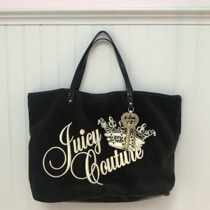 Juicy Couture Brown Tote with key charm